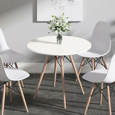 AU98.99 • Buy Modern Cafe Dining Table 4 Seater DSW Round Eiffel Tables Kitchen Wooden Leg DIY