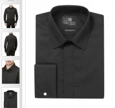*****skopes Tailored Fit Mens Shirt In Black***** Cheapest On Ebay Rrp £32.99 • 9.90£