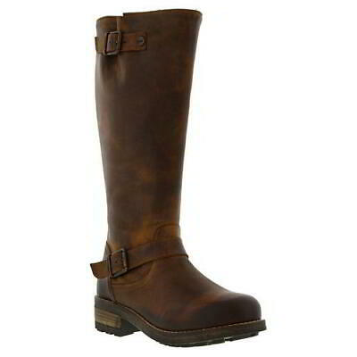Oak And Hyde Bridge Womens Ladies Zip Up Tan Brown Leather Tall Boots Size 4-8 • 84.99£
