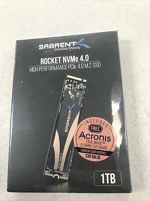 Brand New Sealed Sabrent Rocket NVMe 1TB PCIe 4.0 M.2 2280 SSD • 139.99£