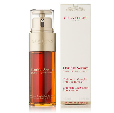 UK Clarins Double Serum 50ml Complete Age Control Concentrate Firming Anti Aging • 21.99£