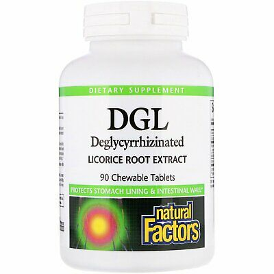 Natural Factors, DGL, Deglycyrrhizinated Licorice Root Extract X 90 Chewable Tab • 15.49£