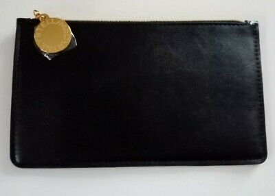 STELLA McCARTNEY Black Vegan Leather Glasses Case/ Pouch New • 25£