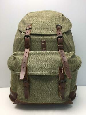 Nigel Cabourn Backpack Green Cotton Swiss-Army Used From Japan F/S • 589.23£