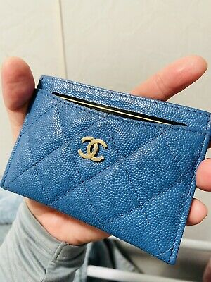 AU475 • Buy Chanel BLUE Cardholder