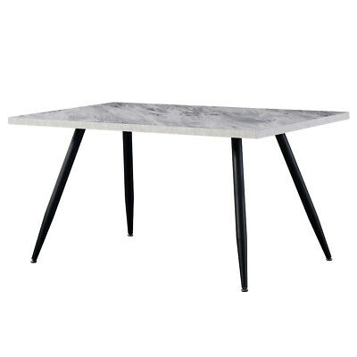 AU210 • Buy 120cm Dining Table MDF Marble Effect Dinner Table Metal Legs Kitchen Restaurant