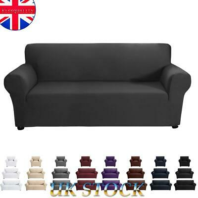 1/2/3 Seater Sofa Settee Covers Couch Pillow Case Slipcovers Stretch Washable • 14.89£