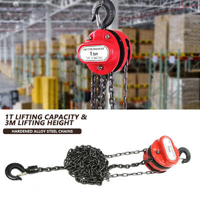 £30.53 • Buy 1T Chain Hoist Block Heavy Load Fall Chain Puller Block 3 Meters Lifting Height