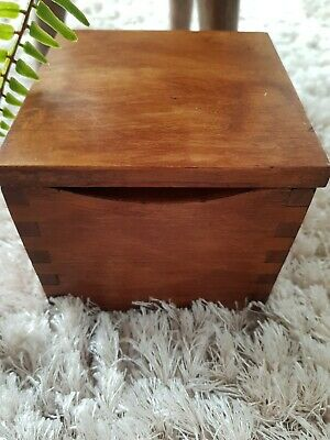 Small Wooden Storage Box With Lid • 7.16£