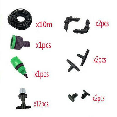 Accessories Misting Cooling System Watering Sprayers 10M Greenhouse Gardening • 10.05£