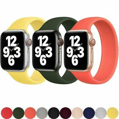 AU11.99 • Buy SOLO Elastic Belt Loop Silicone Strap For Apple Watch 6 SE 5 4 3 2 1 IWatch Band
