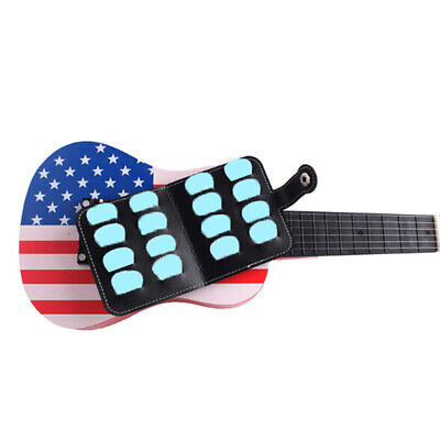 $ CDN4.55 • Buy 16X PU Guitar Black Picks Bag Package Holder Bass Ukulele Guitar AccessoriPZCA