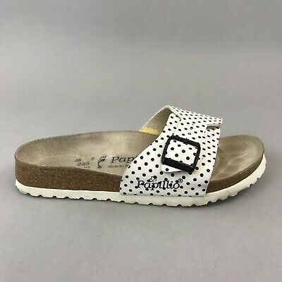 Birkenstock Papillio Birk White Polka Dot Summer Holiday Sandals Shoes 38 UK5 • 37.10£