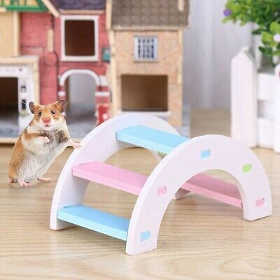 Hamster Ladder Toy Small Animals Climbing Wood Rainbow Bridge Toy Pet Supplies . • 2.87£