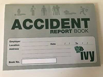 Accident Report Book - First Aid Injury Record School Office • 4£