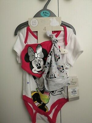 Baby Girl Minnie Mouse Vest 6-9 Months New • 2£