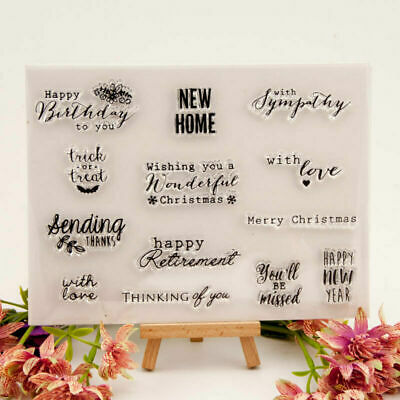 New Home Silicone Clear Stamp Transparent Rubber Stamps DIY Scrapbooking Craft • 2.50£