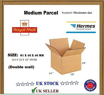 £16.45 • Buy  Small Or Medium Parcel Maximum Size Royal Mail Cardboard Boxes Postal  Packing