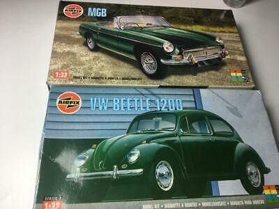Job Lot Airfix 1/32 Model Car Kits Beetle MGB Perfect In Bags Boxes Worn • 19.99£