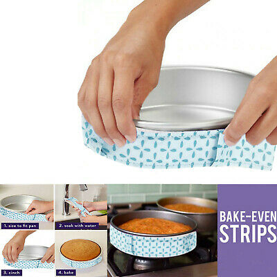 2Pcs Wilton Bake-Even Strips Belt Bake Even Bake Moist Level Cake Baking Tool UK • 4.99£