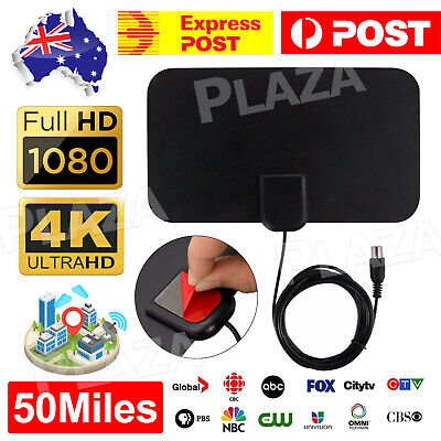 AU9.95 • Buy Indoor Digital HDTV Freeview Antenna With TV Aerial Amplifier 50 Mile Range Thin