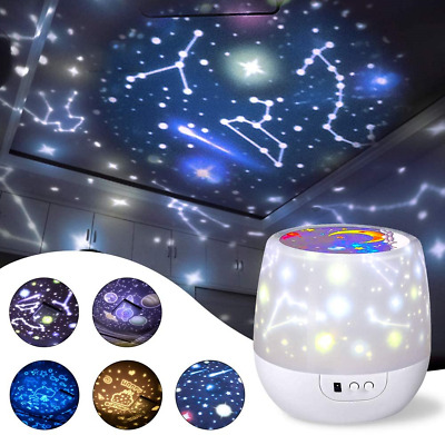 Misognare Star Night Light Universe Projector Lamp For Kids With 5 Sets Of Film • 24.57£