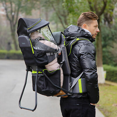 £65.99 • Buy HOMCOM Baby Hiking Backpack Carrier W/ Detachable Rain Cover For Toddlers Black