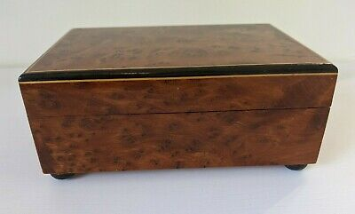 Vintage Burr Walnut Veneered Swiss Reuge Roses From The South Musical Box  • 45£