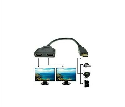 HDMI Cable Male To Dual HDMI Female 1 To 2 Way HDMI Splitter Adapter 2 Outputs  • 3.80£