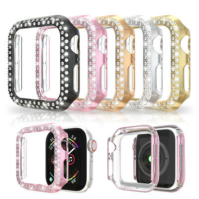 $ CDN6.17 • Buy For Apple Watch Series 5 4 3 2 1 Bling Protector Case Cover Bumper Screen Frame