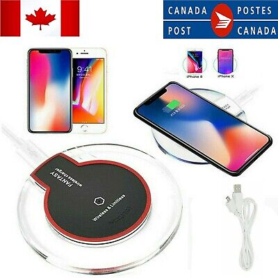 $ CDN9.99 • Buy Qi Wireless Charger Mat 10W FAST Charging Pad For Android/iPhone Mobile Phone