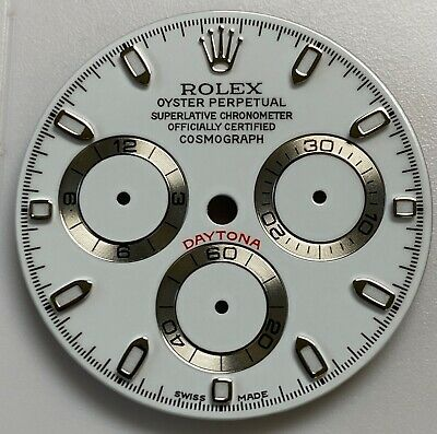 $ CDN396.44 • Buy Refined Rolex Daytona White Dial With White Sub-dials Silver Tracks For Cal 4130