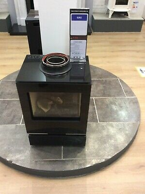 Gazco Vision Midi Balanced Flue Gas Stove, Manual Control, Logs, Top Exit • 999£