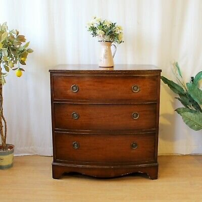 E Gomme Bow Fronted Chest Of 3 Drawers • 106£