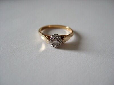 Beautiful 18ct Gold Diamond Solitaire Engagement ?  Ring Size M1/2 • 249£