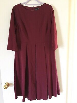 AU21 • Buy Womens Quality Size 18 Asos Dress Burgundy New