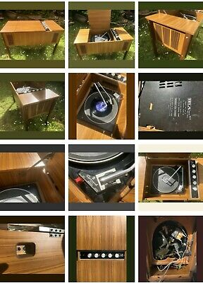 Vintage HMV Stereo Record Player - Model No 2417. Year 1971. Stereogram • 130£