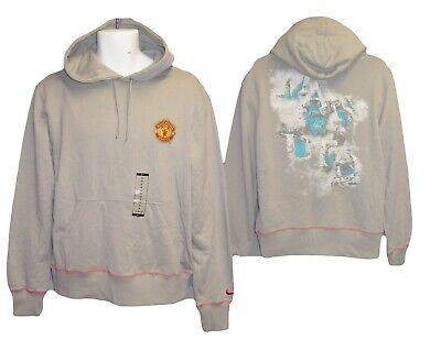 New NIKE Vintage MANCHESTER UNITED Football Club Core Pullover Hoodie Grey M • 44.99£