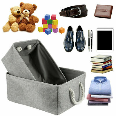 £5.99 • Buy Large Collapsible Fabric Storage Basket Under Bed Bag Box Clothes Organizer Cube