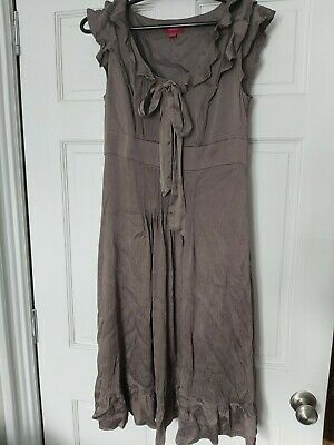Monsoon Mink Taupe Dress Size 12 • 3.50£