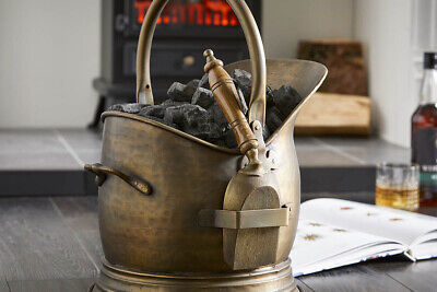 Vintage Deco® Premium Coal Scuttle Bucket With Shovel Antique Fireside Classic • 69.99£