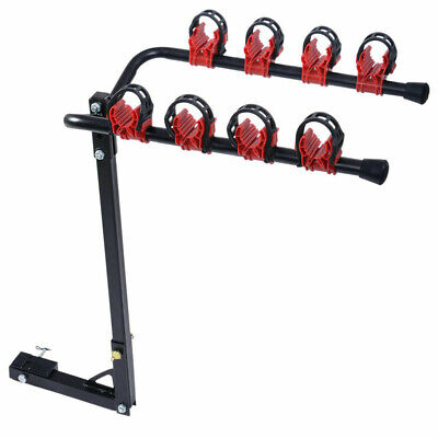 AU78.57 • Buy 4 Bicycles Bike Rack Carrier For Car Load Bikes Rear Towbar 2 Inch Hitch Mount