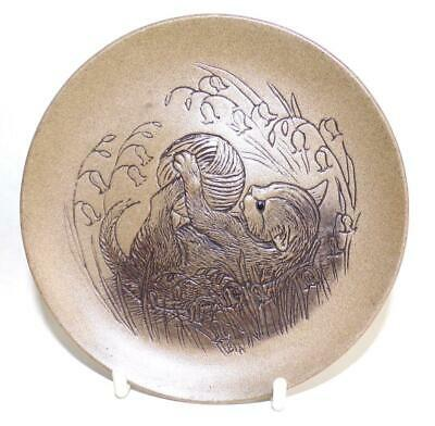 £4.99 • Buy Poole Pottery Cat Series Display Plate Featuring A Kitten With A Ball Of Wool
