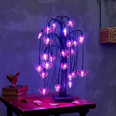 $ CDN30.01 • Buy  18 Inch Halloween Willow Tree With 24 LED Lights, Halloween Lighted Tree With 2