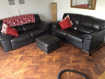 BHS Leather 3 Piece Suite • 30£