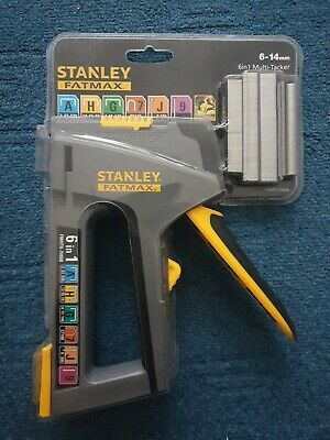 STANLEY FatMax TR75 6in1 Hand Staple/Cable Tacker Brad Nail Gun Stapler STA07086 • 29£