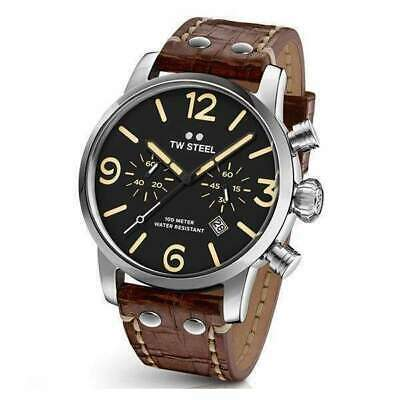 TW Steel Maverick Unisex Quartz Watch With Black Dial Analogue Display And Brown • 188.88£