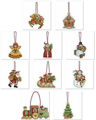 Counted Cross Stitch, Christmas Ornament Kit On Plastic Canvas • 10.99£