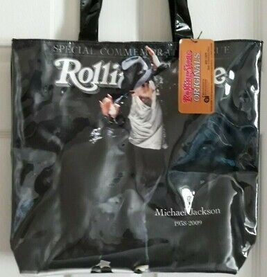 New With Tag Michael Jackson Rolling Stone Tote Bag Vinyl Covered • 17.54£