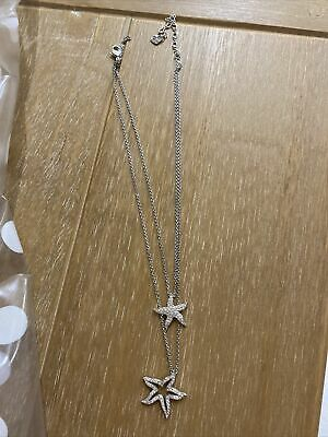 Swarovski Double Pendant Star Necklace • 30£